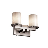 Justice Design Clouds Dakota 2-Light Straight-Bar Bath Bar in Brushed Nickel CLD-8772-10-NCKL