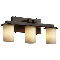 Justice Design Clouds Dakota 3-Light Straight-Bar Bath Bar in Dark Bronze CLD-8773-10-DBRZ