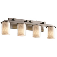 Justice Design Clouds Dakota 4-Light Straight-Bar Bath Bar in Brushed Nickel CLD-8774-10-NCKL