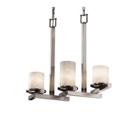 Justice Design CLD-8777-10-NCKL Clouds 3 Light 7 inch Brushed Nickel Chandelier Ceiling Light photo thumbnail