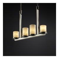 Justice Design Clouds Dakota 4-Light Bar Chandelier in Brushed Nickel CLD-8778-10-NCKL
