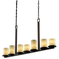 Justice Design Clouds Dakota 7-Light Bar Chandelier in Dark Bronze CLD-8779-10-DBRZ