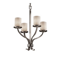 Clouds 4 Light 22 inch Brushed Nickel Chandelier Ceiling Light