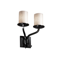 Justice Design Clouds Sonoma 2-Light Wall Sconce (Short) in Matte Black CLD-8782-10-MBLK