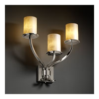 Justice Design Clouds Sonoma 3-Light Wall Sconce in Brushed Nickel CLD-8783-10-NCKL photo thumbnail