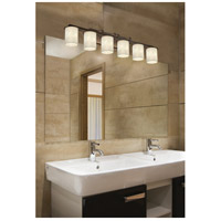 Justice Design CLD-8786-10-DBRZ-LED6-4200 Clouds LED 45 inch Dark Bronze Bath Bar Wall Light in 4200 Lm LED