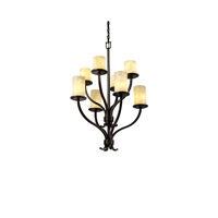 Justice Design Clouds Sonoma 8-Light 2-Tier Chandelier in Dark Bronze CLD-8788-10-DBRZ