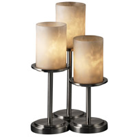 Justice Design Clouds Dakota 3-Light Table Lamp in Brushed Nickel CLD-8797-10-NCKL