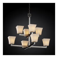 Justice Design Clouds Modular 8-Light 2-Tier Chandelier in Brushed Nickel CLD-8828-40-NCKL photo thumbnail