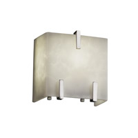Justice Design Clouds 1 Light Wall Sconce in Polished Chrome CLD-8871-CROM