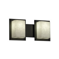 Justice Design Clouds 2 Light Bath Light in Matte Black CLD-8892-MBLK