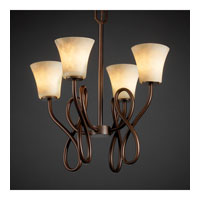 Justice Design Clouds Capellini 4-Light Chandelier in Dark Bronze CLD-8910-20-DBRZ photo thumbnail