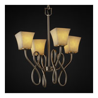 Justice Design Clouds Capellini 4-Light Chandelier in Brushed Nickel CLD-8910-40-NCKL