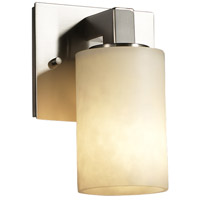Clouds 1 Light 5 inch Brushed Nickel Wall Sconce Wall Light in Cylinder with Flat Rim