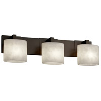 Clouds 3 Light 28 inch Dark Bronze Bath Bar Wall Light in Oval, Fluorescent
