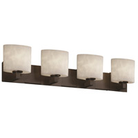 Justice Design Clouds Modular 4-Light Bath Bar in Dark Bronze CLD-8924-30-DBRZ