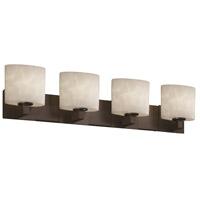 Justice Design CLD-8924-30-DBRZ-LED4-2800 Clouds LED 35 inch Dark Bronze Bath Bar Wall Light Modular