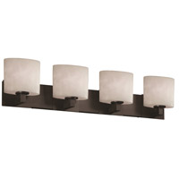 Justice Design Clouds Modular 4-Light Bath Bar in Matte Black CLD-8924-30-MBLK