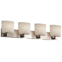 Justice Design Clouds Modular 4-Light Bath Bar in Brushed Nickel CLD-8924-30-NCKL
