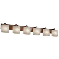 Clouds 6 Light 57 inch Dark Bronze Bath Bar Wall Light in Oval, Fluorescent