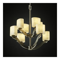 Justice Design Clouds Bend 8-Light 2-Tier Chandelier in Brushed Nickel CLD-8978-30-NCKL