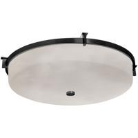 Justice Design CLD-8987-MBLK Clouds 1 Light 21 inch Matte Black Flush-Mount Ceiling Light Round