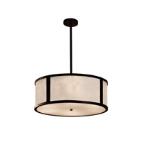Clouds LED Dark Bronze Drum Pendant Ceiling Light in 3500 Lm 5 Light LED