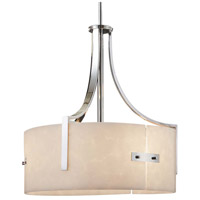 Justice Design CLD-9561-NCKL Clouds Lira 3 Light 18 inch Brushed Nickel Drum Pendant Ceiling Light