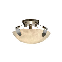 Clouds 2 Light 21 inch Brushed Nickel Semi-Flush Bowl Ceiling Light in Round Bowl