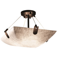 Justice Design CLD-9611-35-NCKL-LED3-3000 Clouds LED 18 inch Brushed Nickel Semi-Flush Ceiling Light in 3000 Lm LED, Round Bowl