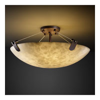 Clouds 8 Light Dark Bronze Semi-Flush Bowl Ceiling Light in Round Bowl