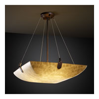 Clouds 6 Light 27 inch Dark Bronze Pendant Bowl Ceiling Light in Square Bowl