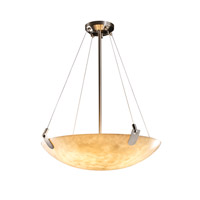 Justice Design CLD-9622-25-NCKL-LED5-5000 Clouds LED 27 inch Brushed Nickel Pendant Ceiling Light in 5000 Lm LED, Square Bowl