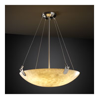 Justice Design CLD-9627-35-NCKL Clouds 8 Light Brushed Nickel Pendant Bowl Ceiling Light in Round Bowl photo thumbnail
