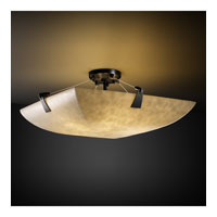 Clouds 8 Light 51 inch Matte Black Semi-Flush Bowl Ceiling Light in Square Bowl