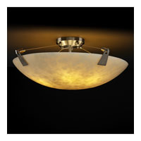 Justice Design CLD-9637-35-NCKL Clouds 8 Light Brushed Nickel Semi-Flush Bowl Ceiling Light in Round Bowl photo thumbnail