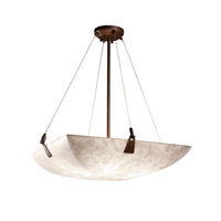 Justice Design CLD-9642-25-DBRZ-LED5-5000 Clouds LED 27 inch Dark Bronze Pendant Ceiling Light in 5000 Lm LED, Square Bowl