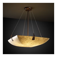 Clouds 8 Light 39 inch Dark Bronze Pendant Bowl Ceiling Light in Square Bowl