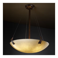 Justice Design CLD-9647-35-DBRZ Clouds 8 Light Dark Bronze Pendant Bowl Ceiling Light in Round Bowl photo thumbnail