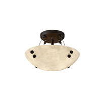 Justice Design CLD-9650-35-DBRZ-F1 Clouds 2 Light 21 inch Dark Bronze Semi-Flush Bowl Ceiling Light in Pair of Cylinders, Round Bowl photo thumbnail