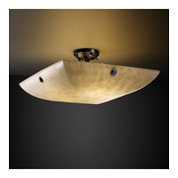 Clouds 6 Light 27 inch Matte Black Semi-Flush Bowl Ceiling Light in Concentric Circles, Square Bowl