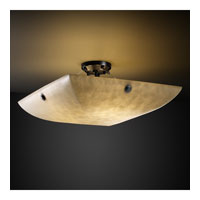 Clouds 8 Light 51 inch Matte Black Semi-Flush Bowl Ceiling Light in Concentric Circles, Square Bowl