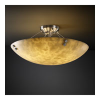 Clouds 8 Light Brushed Nickel Semi-Flush Bowl Ceiling Light in Pair of Cylinders, Round Bowl