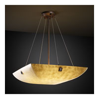 Clouds 8 Light 51 inch Dark Bronze Pendant Bowl Ceiling Light in Large Square with Point, Square Bowl