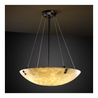Justice Design CLD-9667-35-DBRZ-F3-LED6-6000 Clouds LED 51 inch Dark Bronze Pendant Ceiling Light in Pair of Square with Points, Round Bowl, 6000 Lm LED