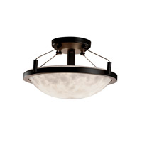 Clouds 2 Light Dark Bronze Semi-Flush Bowl Ceiling Light