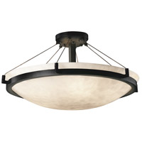 Clouds 6 Light 27 inch Matte Black Semi-Flush Bowl Ceiling Light