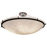 Justice Design CLD-9687-35-DBRZ Clouds 6 Light 51 inch Dark Bronze Semi-Flush Ceiling Light Bowl