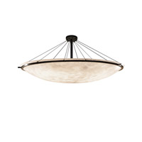 Justice Design Group Clouds LED Semi-Flush Bowl with Ring in Dark Bronze CLD-9688-35-DBRZ-LED12-12000