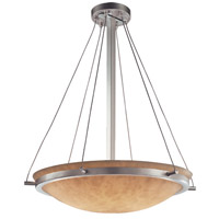 Justice Design CLD-9692-35-NCKL Clouds 6 Light 21 inch Brushed Nickel Pendant Bowl Ceiling Light photo thumbnail